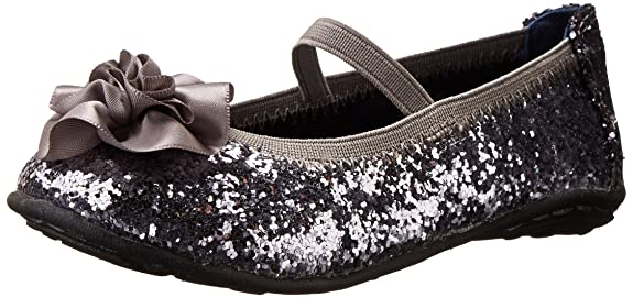 Kenneth Cole Reaction Lil Bit Of Buck Ballet Flat (Toddler/Little Kid/Big Kid),Pewter Patent,5.5 M US Big Kid