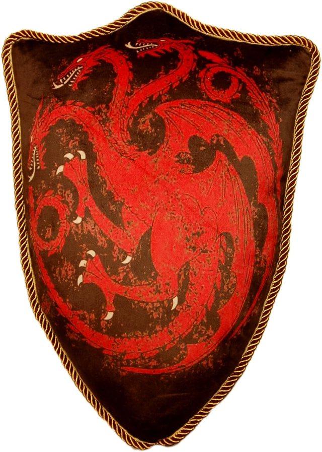 Game of Thrones House Targaryen Dragon Sigil Throw Plush Pillow