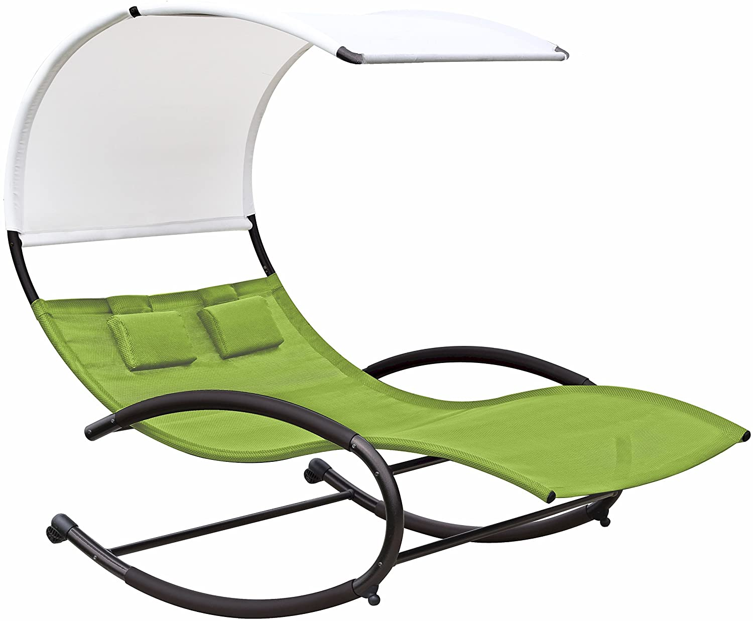 Double Seat Chair Patio Furniture Garden Double Seat Chaise Chair Canopy