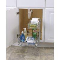 Sink Organizer Shelf Under Kitchen Cabinet Storage Sliding ...