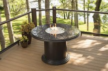 Outdoor Propane Fire Pit Dining Table