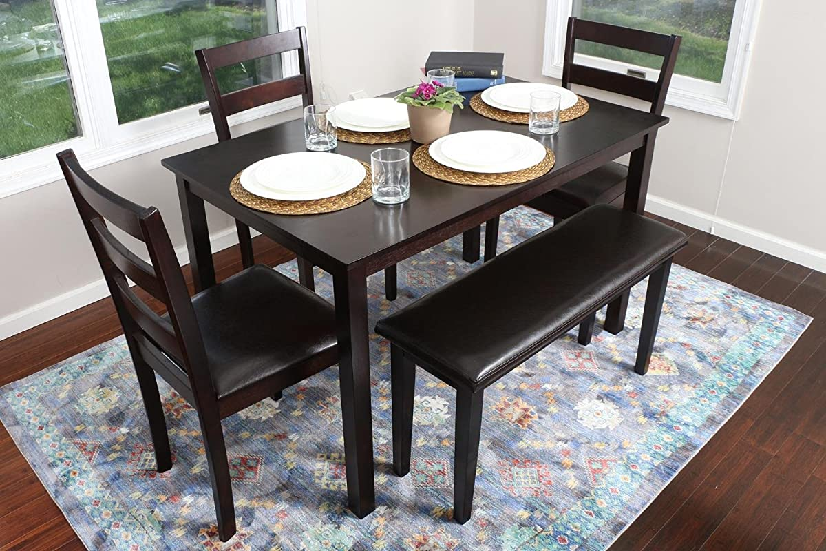 espresso table and chairs kitchen chair covers target 4 person 5 piece dining set 1 3