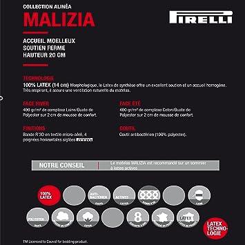 malizia matelas 100 latex pirelli 140x200cm 20cm blanc alinea 20 price vsifywjt 41