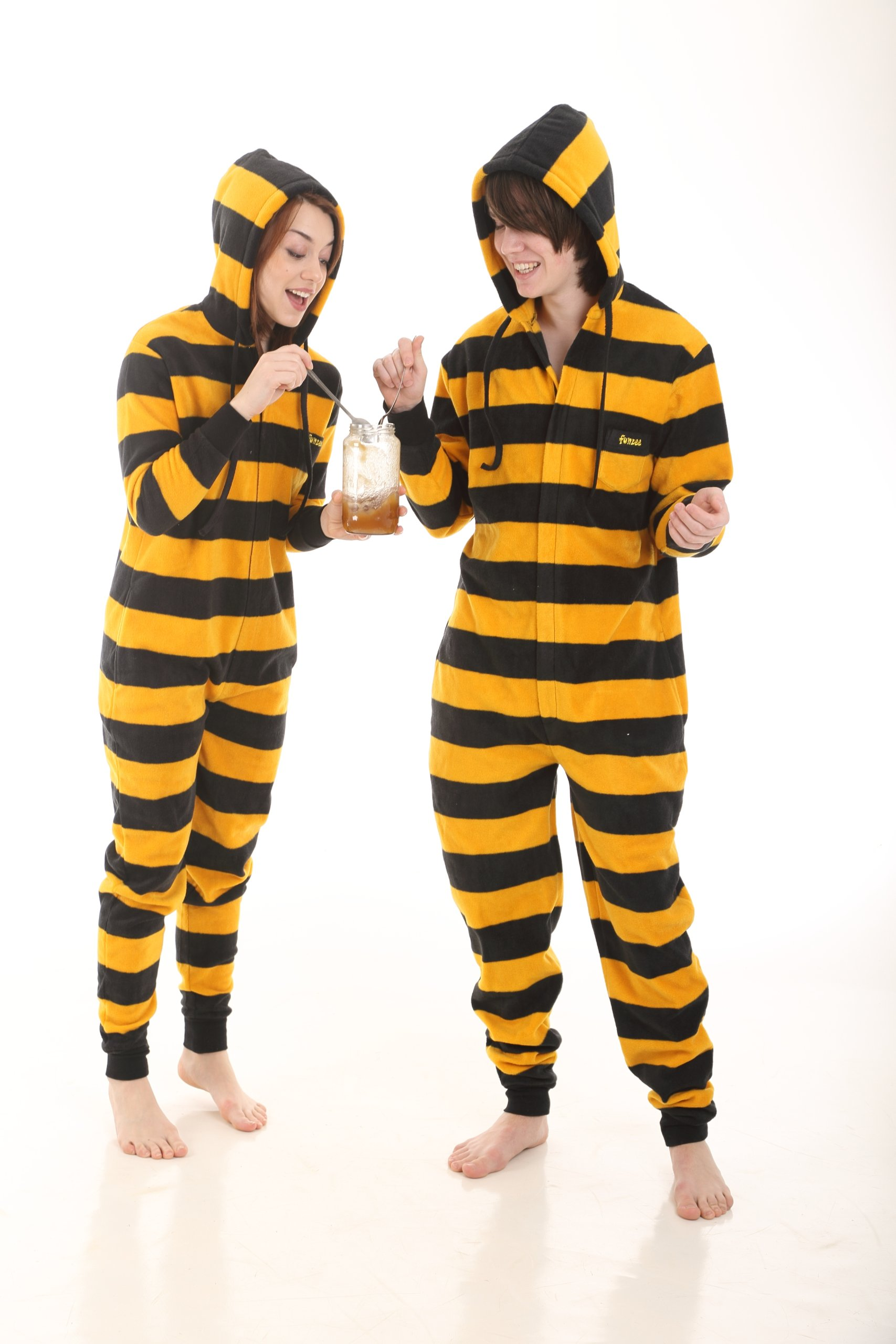 Funzee Bumble Adult Onesie Pjs Non Footed Pajamas Jumpsuit XS-XXL Size on Height