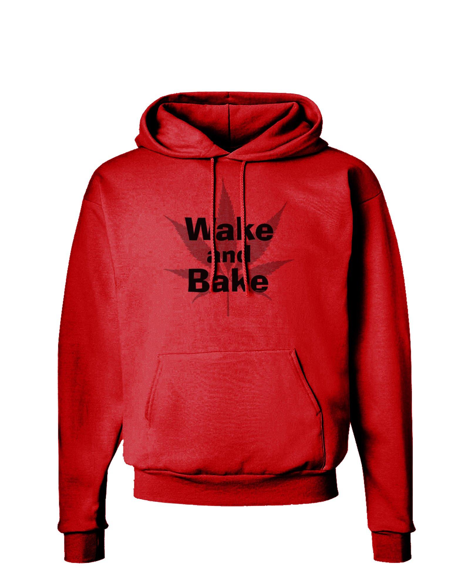 Wake and Bake - Marijuana Leaf B&W Hoodie Sweatshirt