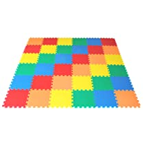 rainbow foam mats 36 pieces