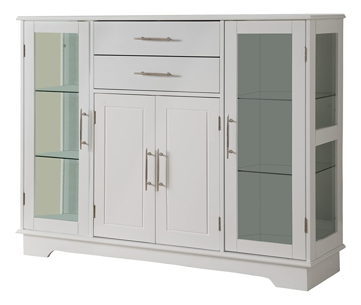 kitchen buffet storage cabinet antiqued cabinets kings brand with glass