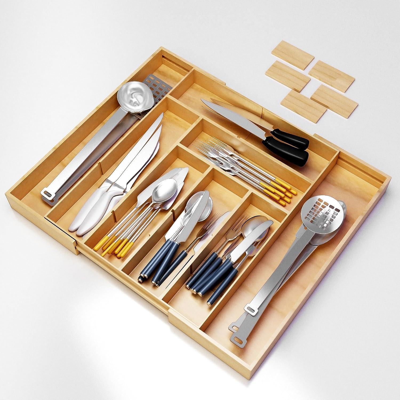 Flatware Silverware Kitchen Drawer Organizer Utensil Tray