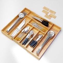 Kitchen Utensil Drawer Organizer Sink Strainer Basket Flatware Silverware Tray