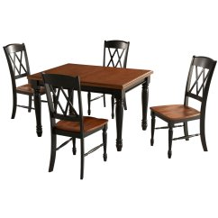 Double X Back Chairs Black And White Striped Desk Chair Home Styles 5008 308 Monarch Rectangular Dining Table 4