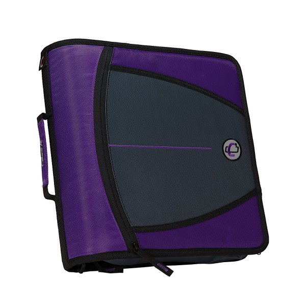 3 Inch Zipper Binder Purple