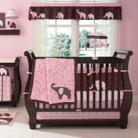 Carters Pink Elephant Baby Bedding Collection - Baby ...