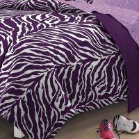 My Room Zebra Purple Ultra Soft Microfiber Comforter Sheet ...