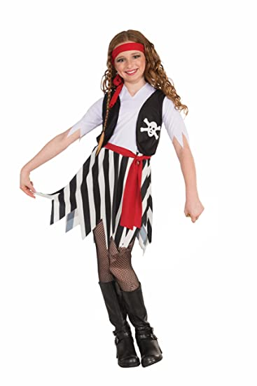 Forum Novelties Little Lady Buccaneer Costume, Child Large