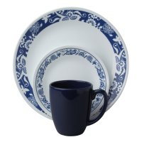 Corelle Livingware 16 Piece Dinnerware SET True Blue ...