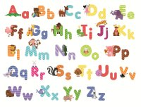 Animal Alphabet Wall Decals - Fun and Educational Letters ...