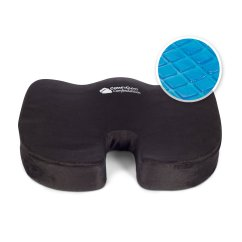 Gel Cushion For Chair Chicco Travel High Instructions Comfycloud Coccyx Orthopedic Enhanced Comfort Foam