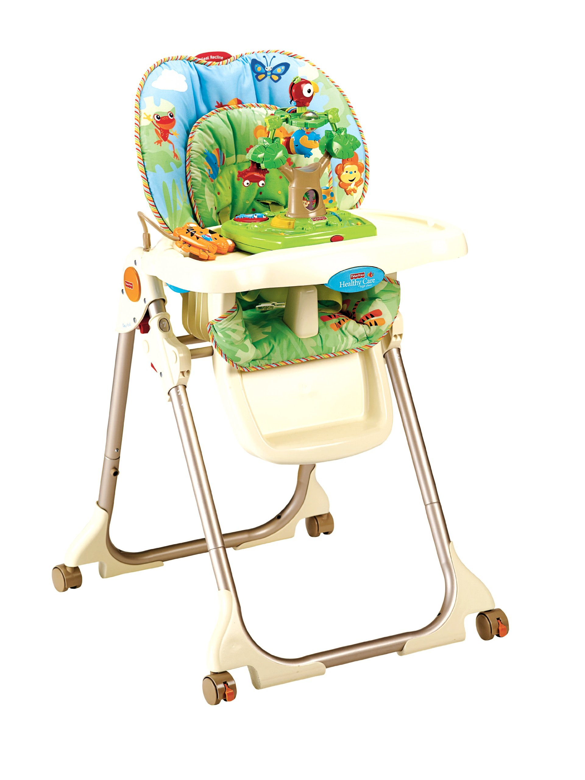fisher price rainforest high chair recall extra wide recliner healthy care classy