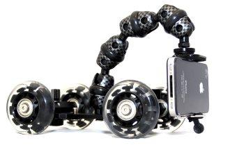 Imagen lateral de iStabilizer Dolly, una montura para realizar grabaciones de vídeo y fotografía en movimiento
