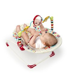 Infant Bouncy Chair And Half With Ottoman Sleeper Baby Bouncer Seat Soothing Vibration Interactive