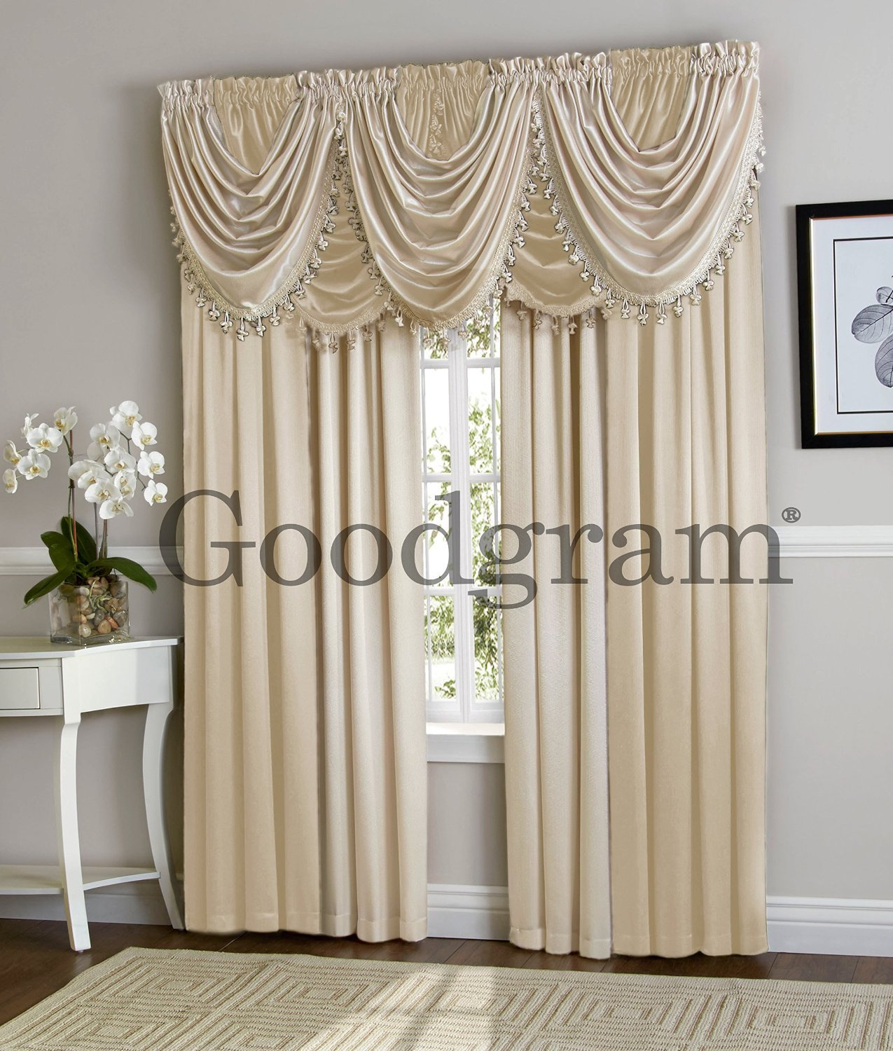Hilton Curtain Waterfall Fringed Single Valance Only