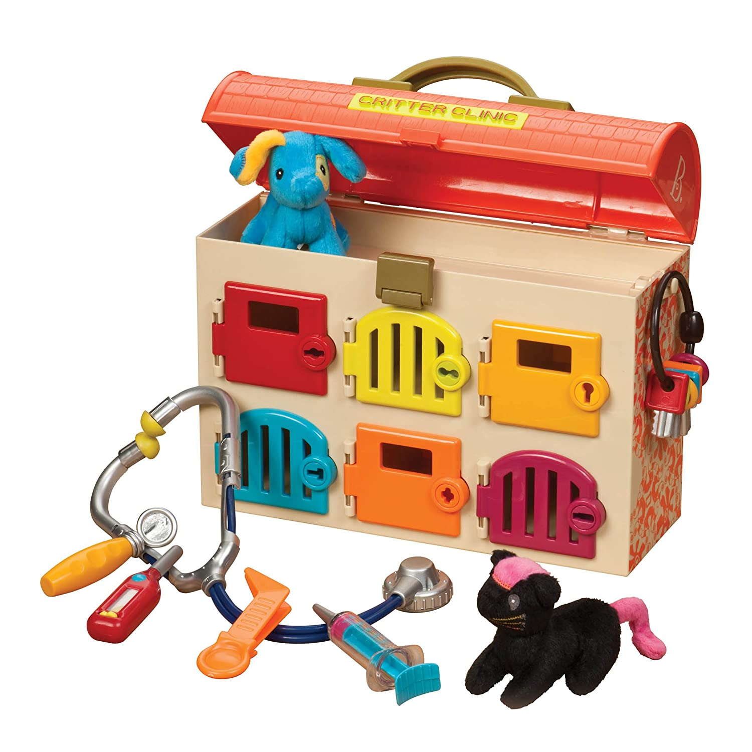 B. Toys Critter Clinic Toy Vet Play Set