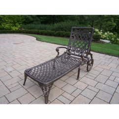 Old Fashioned Metal Lawn Chairs Dining Table With Material Oakland Living Mississippi Cast Aluminum Chaise Lounge