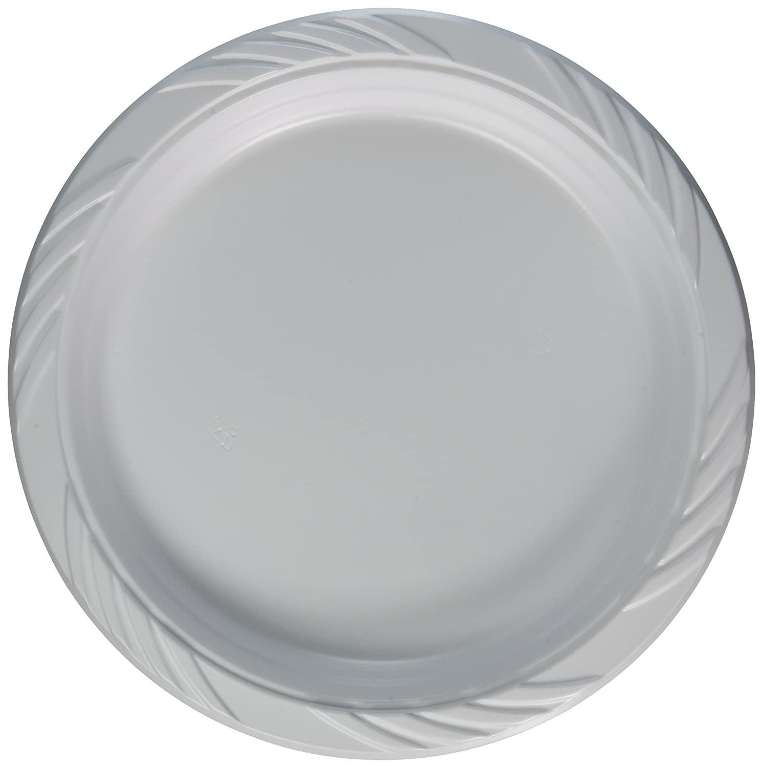 """100 White Plastic Party Plates 9"""" Clean Dinner Disposable"""