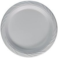 "100 White Plastic Party Plates 9"" Clean Dinner Disposable"