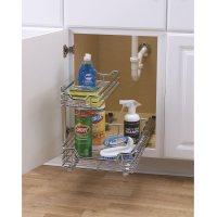 Kitchen Under Sink Storage Basket Cabinet Sliding Drawer ...