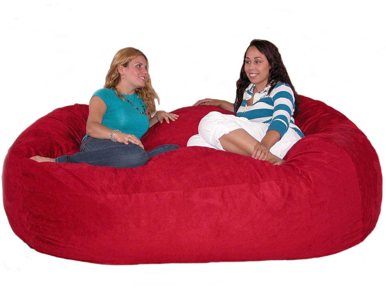 the love chair healthy back office chairs bean bag 7 feet xx large cinnabar cozy sac foof
