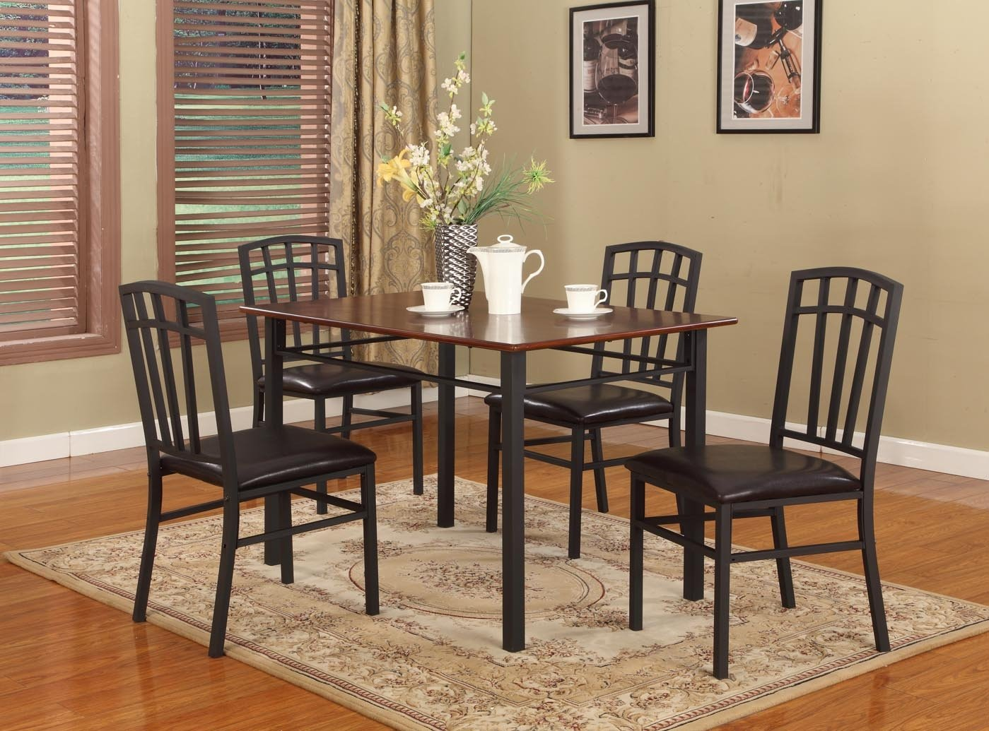 Black Metal Dining Chairs Simple Assembly Required