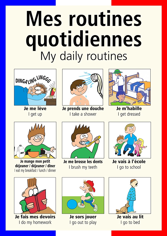 Reflexive Verbs Daily Routine Spanish Worksheet