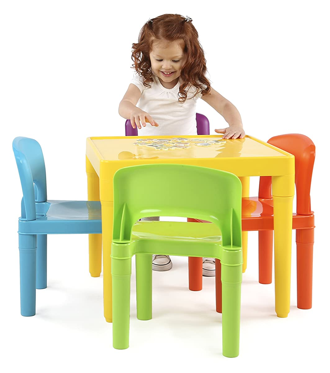 tot tutors table and chairs squirrel chair feeder kids plastic 4 set vibrant colors