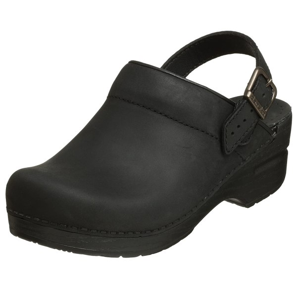 Dansko Women' Ingrid Oiled Leather Clog Black 38 Eu 7.5