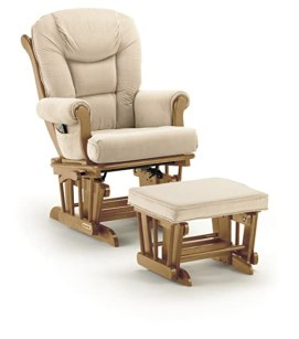 Shermag Glider Rocker Combo, Pecan with Oatmeal