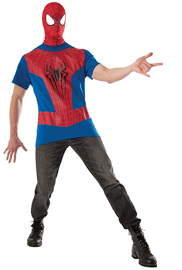 Rubie's Costume Men's Marvel Universe, The Amazing Spider-man 2 Costume Top and Mask, Multicolor, Large