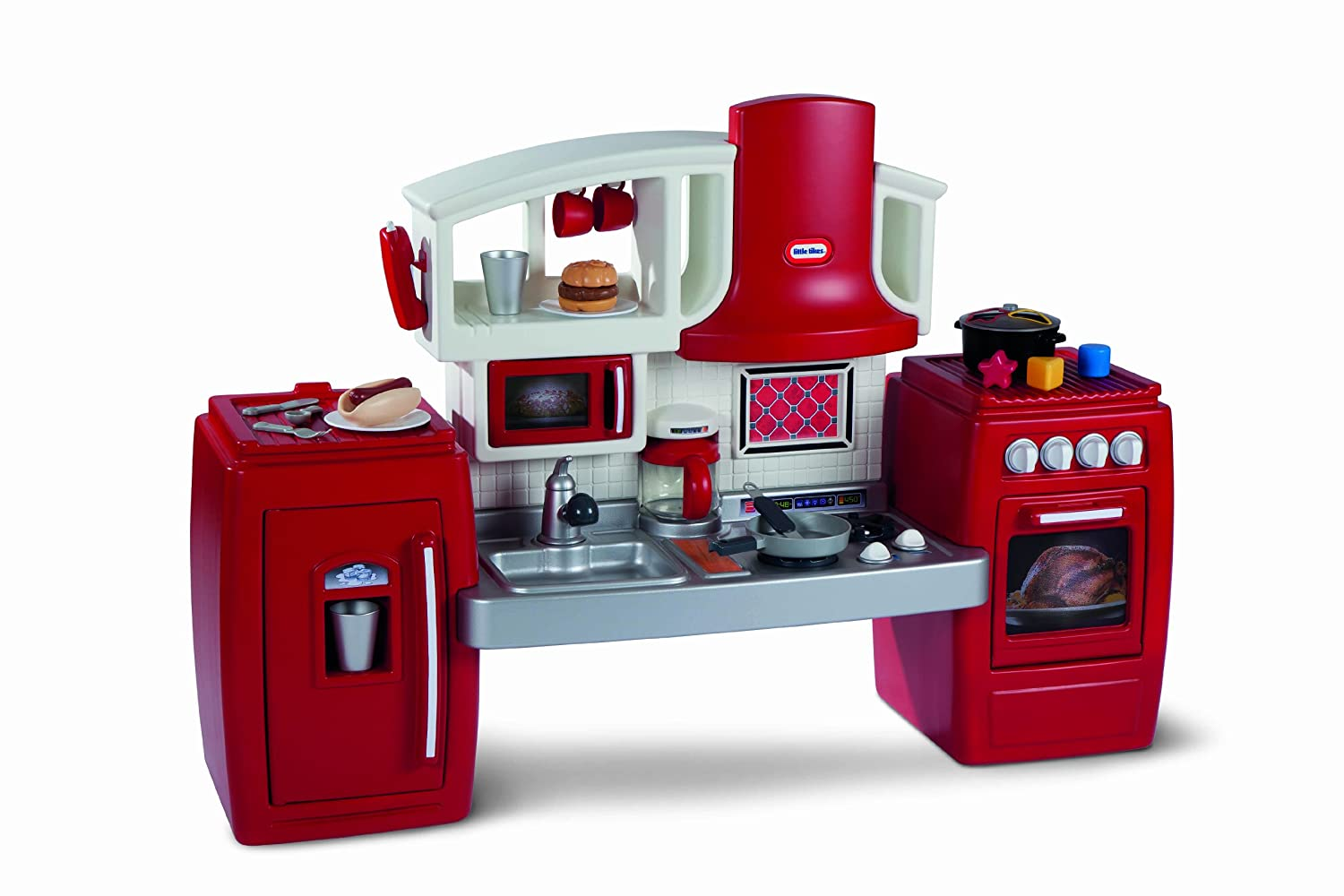 Kids Pretend Play Kitchen Set Cooking Food Toddler Plastic Stove Oven Dishes Toy  eBay