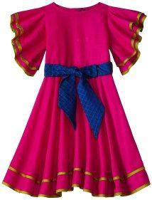 rasberry flutter dress for girls