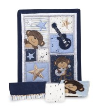 Carters Monkey Rockstar Baby Bedding