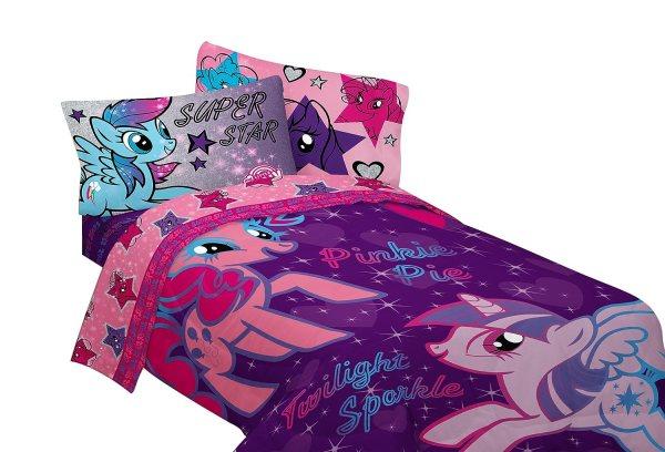 Hasbro Little Pony Stars Sheet Set Twin Free Shipping