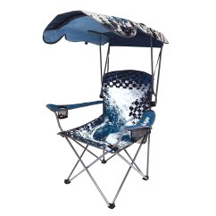 Beach Chairs With Shade Dining Chair Covers Brisbane Wave Original Canopy Blue Portable