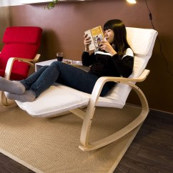 Easy Chairs With Footrests Sky Chair Instructions Relax Rocking Recliners Poly Cotton Fabric Cushion