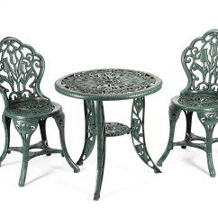 Tulip Table And Chairs Uk Jenny Lind 3 Piece Garden Patio Bistro Set Furniture