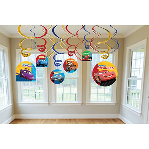 Disney Cars 2 Hanging Swirl Value Pack (Multi-colored) Party Accessory