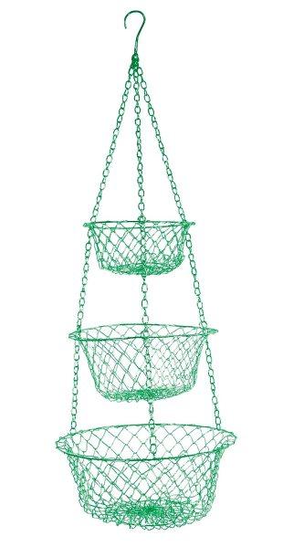 hanging kitchen basket Fox Run 3 TIER Hanging VEGETABLE Fruit KITCHEN Storage