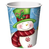 Snowman Christmas Party Paper Cups   Christmas Wikii