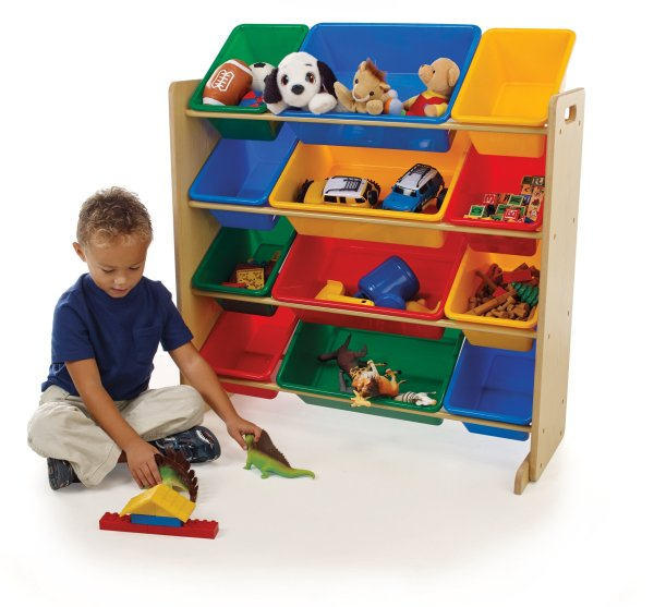 Tot Tutors Kids Toy Organizer With Storage Bins Primary