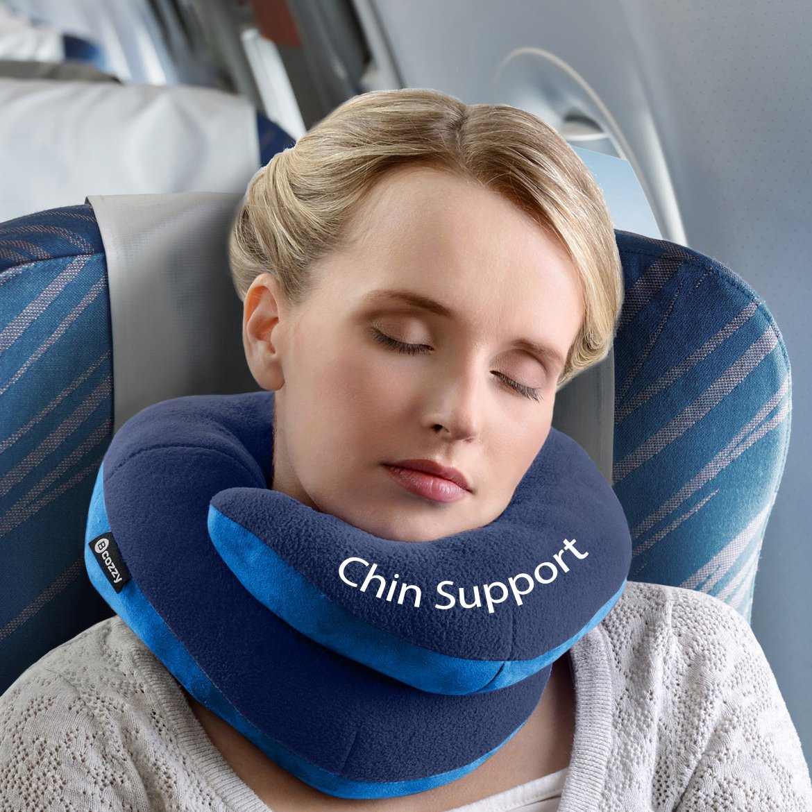 BCOZZY Chin Supporting Travel Pillow  Supports the Head
