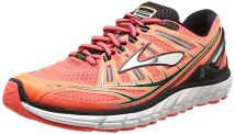 Brooks Men's Transcend Running Shoes, Color: FieryCoral/Silver/Black, Size: 8.0